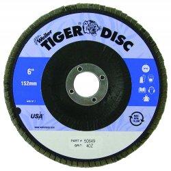 Weiler - 50649 - Arbor Mount Flap Disc, 6in, 40, Coarse