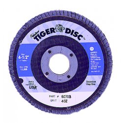 Weiler - 50723 - Tiger Disc Flat Style Flap Discs (Case of 10)