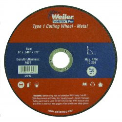 Weiler - 56208 - Vortec Pro Type 1 Reinforced Cutting Wheels (Each)