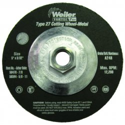 Weiler - 56384 - Vortec Pro Type 27 Cutting Wheels (Each)