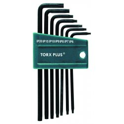 Wiha Quality Tools - 36690 - Short L-Shaped Torx Black Oxide Torx Key Set, Number of Pieces: 7