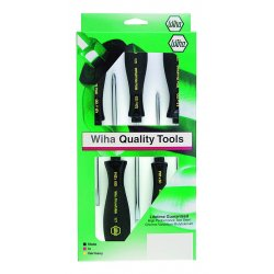 Wiha Quality Tools - 52090 - Screwdriver Set, Round Blades, 5 pc.