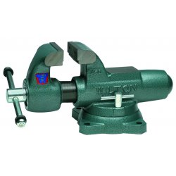 "Wilton - 10021 - Wilton 4 1/2"" L X 7 1/2"" Jaw Steel Machinist Round Channel Vise With Swivel Base"
