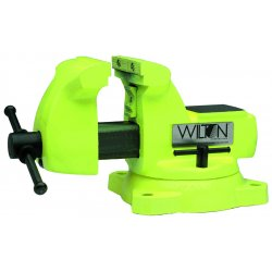 "Wilton - 63188 - Wilton 5"" X 5 1/4"" Jaw 1/4"" 2 1/2"" Pipe High Visibility Safety Vise With 360 Swivel Base"
