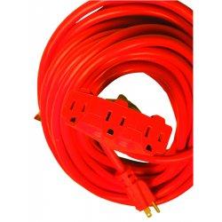 Woods Wire - 0820 - 12/3 100' Sjtw Orange Pwr