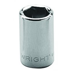 "Wright Tool - 2012 - 3/8"" 1/4""dr 6pt Std Socket, Ea"