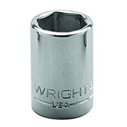"Wright Tool - 3016 - Wright Tool 3/8"" X 1/2"" Chrome Plated Alloy Steel 6 Point Standard Socket"