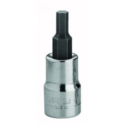 "Wright Tool - 3212 - Wright Tool 3/8"" X 3/8"" Black Drive Chrome Plated Alloy Steel Hex Bit Socket"
