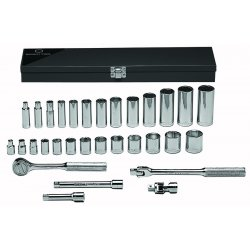 "Wright Tool - 339 - 26pc. 3/8""dr. Socket Setw/metal Box Standard&de"