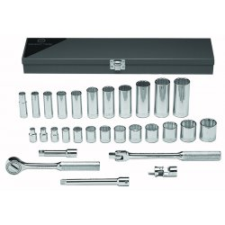 "Wright Tool - 340 - 26pc. 3/8""dr. Socket Tool Set 12-point St"