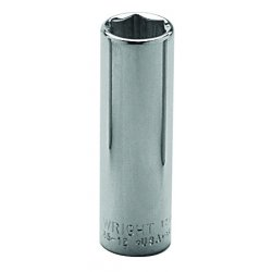 "Wright Tool - 35-18MM - 18mm 3/8"" Dr 6pt Deep Metric Socket, Ea"