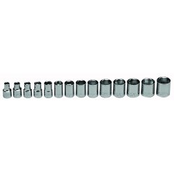 "Wright Tool - 354 - Wright Tool 3/8"" X 6mm - 19mm 14 Piece 6 Point Standard Metric Socket Set (Includes Rail And (14) Clips)"