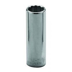 "Wright Tool - 3612 - 3/8"" 3/8""dr 12pt Deep Socket, Ea"