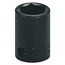 "Wright Tool - 3816 - Wright Tool 3/8"" X 1/2"" Black Alloy Steel 6 Point Standard Impact Socket"
