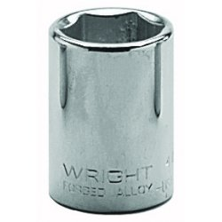 Wright Tool - 4018 - Wright Tool 1/2' X 9/16' Chrome Plated Alloy Steel 6 Point Standard Socket, ( Each )