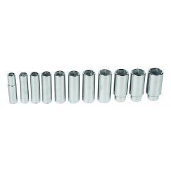 "Wright Tool - 414 - 1/2"" Drive 11 Pc. 6 Pt.deep Socket, Set"