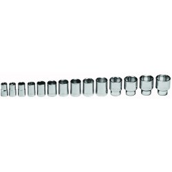 "Wright Tool - 419 - 1/2""dr 14pc Std Socket Set 6-point W/m"