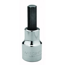 "Wright Tool - 4212 - Wright Tool 1/2"" X 3/8"" Black Drive Chrome Plated Alloy Steel Hex Bit Socket"