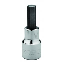 Wright Tool - 4218 - Wright Tool 1/2' X 9/16' Black Drive Chrome Plated Alloy Steel Hex Bit Socket, ( Each )
