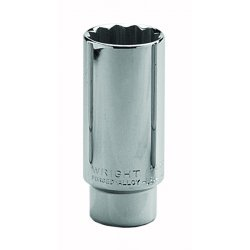Wright Tool - 4638 - Wright Tool 1/2' X 1 3/16' Chrome Plated Alloy Steel 12 Point Deep Socket, ( Each )