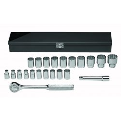 "Wright Tool - 472 - 22pc. 1/2""dr. Metric Socket Set Replaces 47"