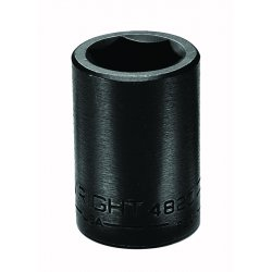Wright Tool - 4846 - Wright Tool 1/2' X 1 7/16' Black Alloy Steel 6 Point Standard Impact Socket, ( Each )