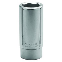 "Wright Tool - 6552 - 1-5/8"" Forged Steel Socket with 3/4"" Drive Size and Chrome Finish"