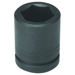 Wright Tool - 68-46MM - Wright Tool 3/4' X 46mm Black Alloy Steel 6 Point Standard Metric Impact Socket, ( Each )