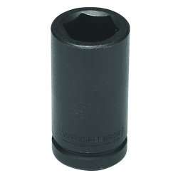 Wright Tool - 6932 - Wright Tool 3/4' X 1' Black Alloy Steel 6 Point Deep Impact Socket, ( Each )