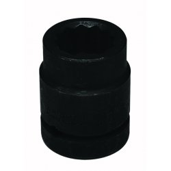 Wright Tool - 8754 - Impact Socket, 1 In Dr, 1-11/16 In, 12 pt