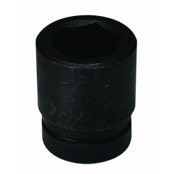 "Wright Tool - 8886 - Wright Tool 1"" X 2 11/16"" Black Alloy Steel 6 Point Standard Impact Socket"