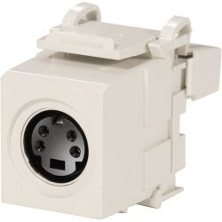 Leviton - 40734SVW - Leviton QuickPort S-Video Connector - mini-DIN, 110