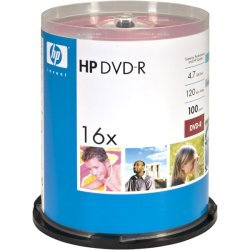 Hewlett Packard (HP) - DM16100CB - HP DM16100CB 4.7GB DVD-Rs, 100-ct Spindle