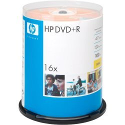 Hewlett Packard (HP) - DR16100CB - HP DR16100CB 4.7GB 16x DVD+Rs (100-ct Cake Box Spindle)