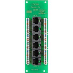 Leviton - 47603-C5 - Leviton 47603-C5 Phone Patch Panel - 6 x RJ-45, 6 x 110 - 12 Port(s) - 6 x RJ-45 - 12 x RJ-11