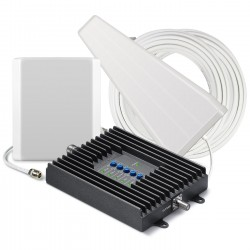 Cellphone-Mate / Surecall - SC-POLYH-72-YP-KIT - SureCall Fusion4Home Cell Phone Signal Booster Kit for All-Carrier 3G / 4G LTE Signals for Small Home Coverage