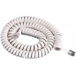 Cablesys - 1200WH - GCHA444012-FWH / 12' WHITE Handset Cord