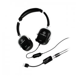 Andrea Communications - P-C1-1-26200-50 - Andrea SuperBeam SB-405B Headset - Stereo - Black - USB - Wired - 32 Ohm - 20 Hz - 20 kHz - Over-the-head - Binaural - Semi-open - Noise Cancelling Microphone
