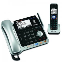 AT&T / VTech - TL86109 - Vtech AT&T TL86109 Cordless Phone with Answering Machine - Cordless - 2 x Phone Line - Answering Machine - Backlight