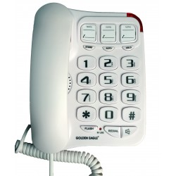 Golden Eagle - GO-GEE3104WH - Big Button Phone with Speakerphone White