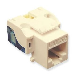 ICC - IC1078E5AL - ICC Cat 5e, EZ, Modular Connector, Almond - RJ-45 Female - Almond