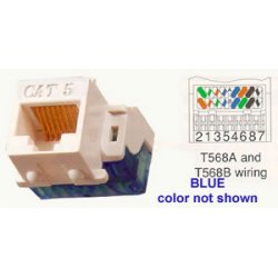 ICC - IC1078E5BL - ICC Cat 5e, EZ, Modular Connector, Blue - 1 x RJ-45 Female - Blue