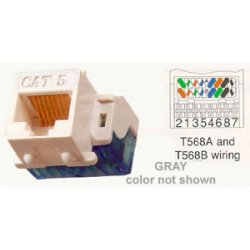 ICC - IC1078E5GY - ICC Cat 5e, EZ, Modular Connector, Gray - 1 x RJ-45 Female - Gray