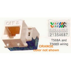ICC - IC1078E5OR - ICC Cat 5e, EZ, Modular Connector, Orange - 1 x RJ-45 Female - Orange