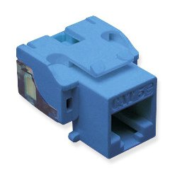 ICC - 107E5CBL - ICC IC107E5CBL Cat.5e Network Connector - 25 Pack - 1 x RJ-45 Female - Blue