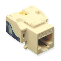 ICC - CAT5JKPK-IV - ICC Network Connector - 25 Pack - RJ-45 - Ivory
