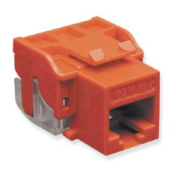 ICC - 1078L6RD - ICC IC1078L6RD Cat.6c Network Connector - 1 x RJ-45 Female - Red