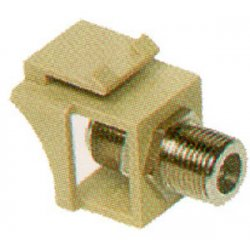 ICC - IC107B5GIV - ICC IC107B5GIV A/V Connector Adapter - Gold Connector - Ivory