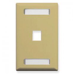 ICC - FACEID-1-IV - ICC Faceplate - 1 x Socket(s) - 1-gang - Ivory