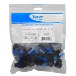 ICC - IC107F5CBK - Module, Cat 5E, HD, 25 PK, Black